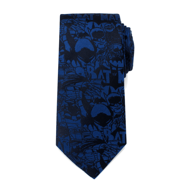 Blue Batman Comic Tie BY DC COMICS - Groomsmen Groom Wedding Gift For Him