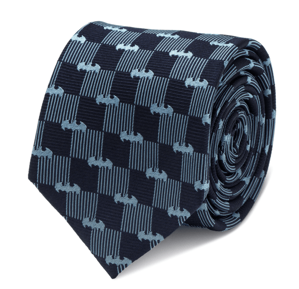 Batman Navy Tie BY DC COMICS - Groomsmen Groom Wedding Gift For Him