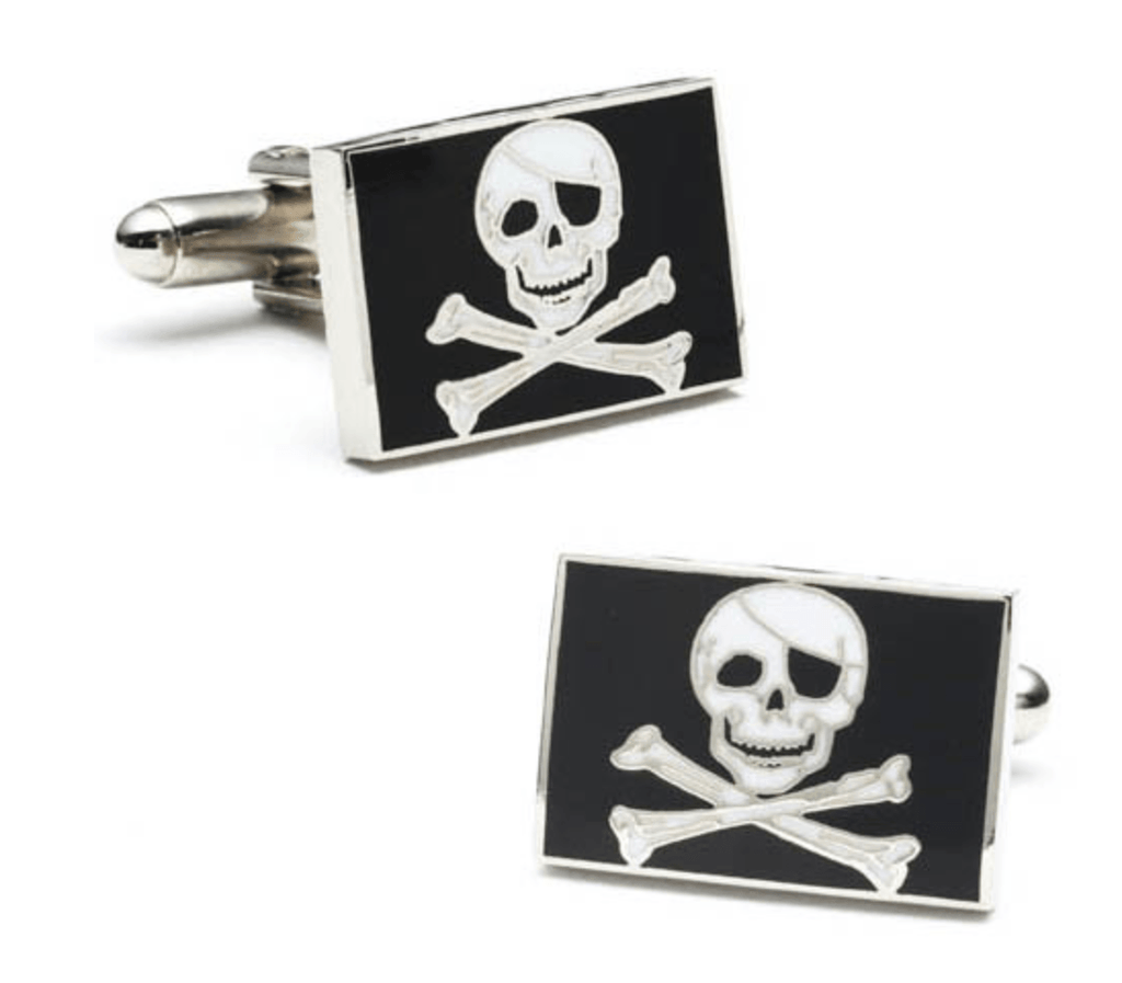 Pirate Flag Cufflinks - MarkandMetal.com