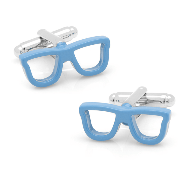 Blue Glasses Cufflinks - MarkandMetal.com