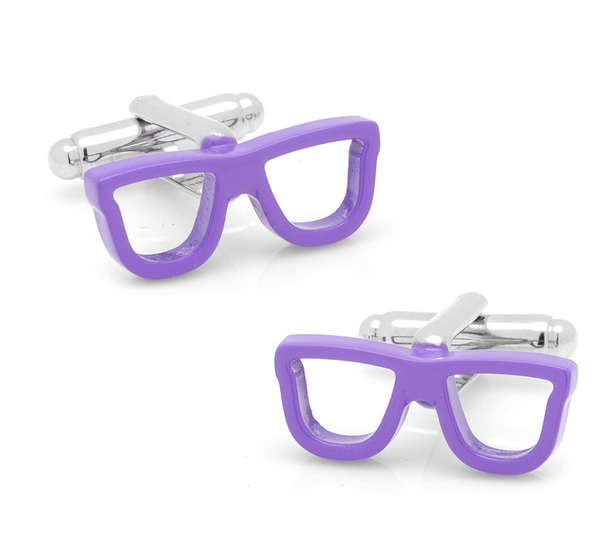 Cool Cut Purple Shades Cufflinks - MarkandMetal.com