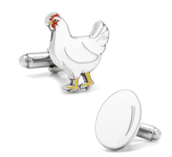 Chicken or the Egg Cufflinks - MarkandMetal.com