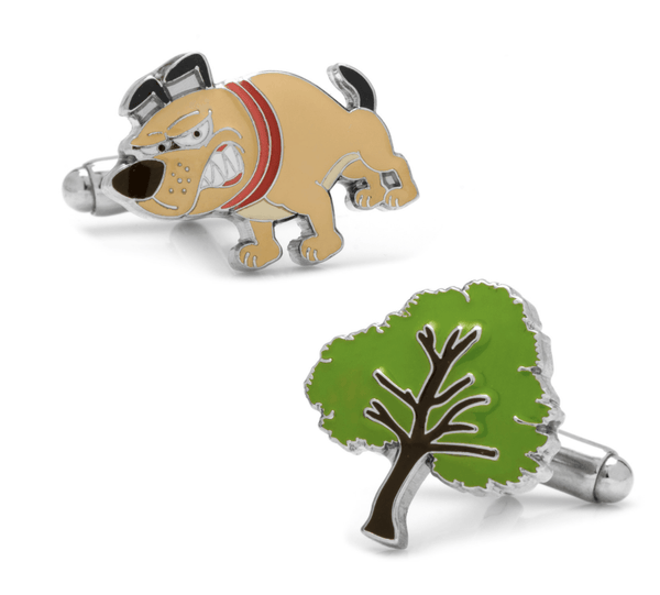 Barking Up the Wrong Tree Cufflinks - Groomsmen Groom Wedding Gift For Him