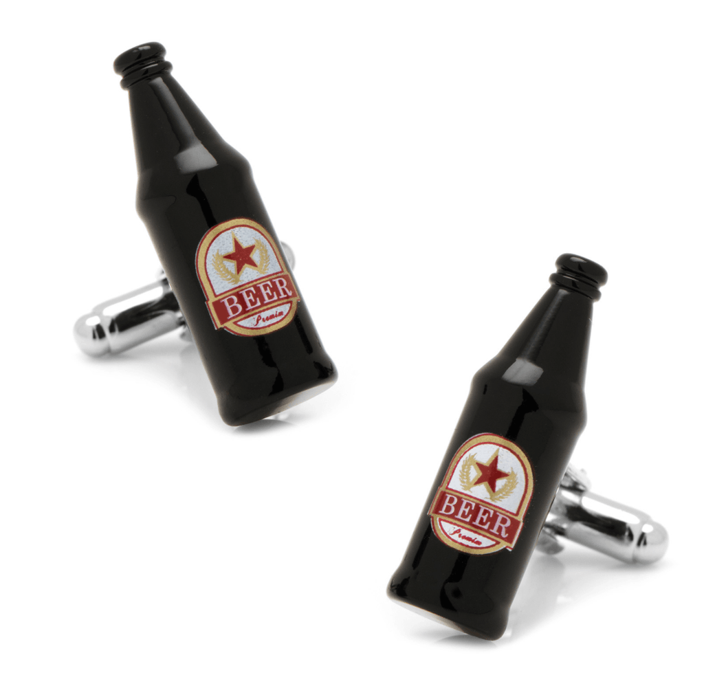 Beer Bottle Cufflinks - MarkandMetal.com