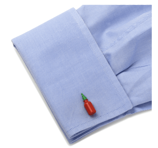 Hot Sauce Cufflinks - Groomsmen Groom Wedding Gift For Him