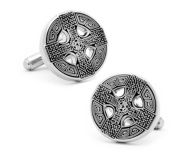 Celtic Cross Cufflinks - MarkandMetal.com