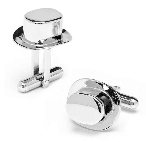 Top Hat Playing Piece Cufflinks BY MONOPOLY - MarkandMetal.com