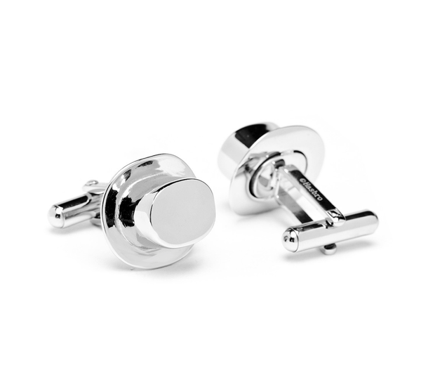 Monopoly Top Hat Playing Piece Cufflinks - MarkandMetal.com