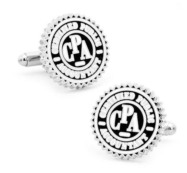 CPA Certified Public Accountant Seal Cufflinks - MarkandMetal.com