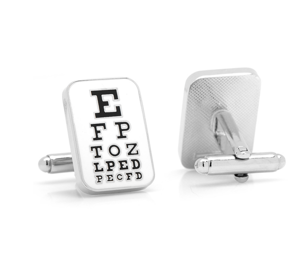 Eye Doctor Chart Cufflinks - Men's Accessories and gifts for him