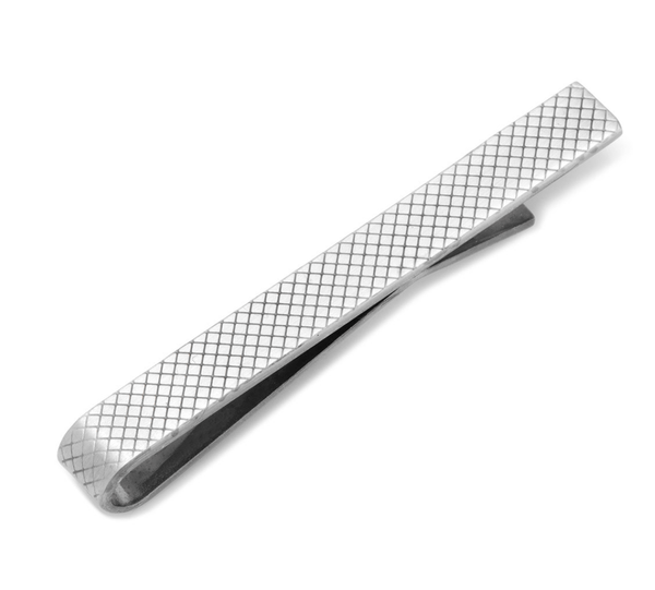 Etched Grid Tie Bar - MarkandMetal.com