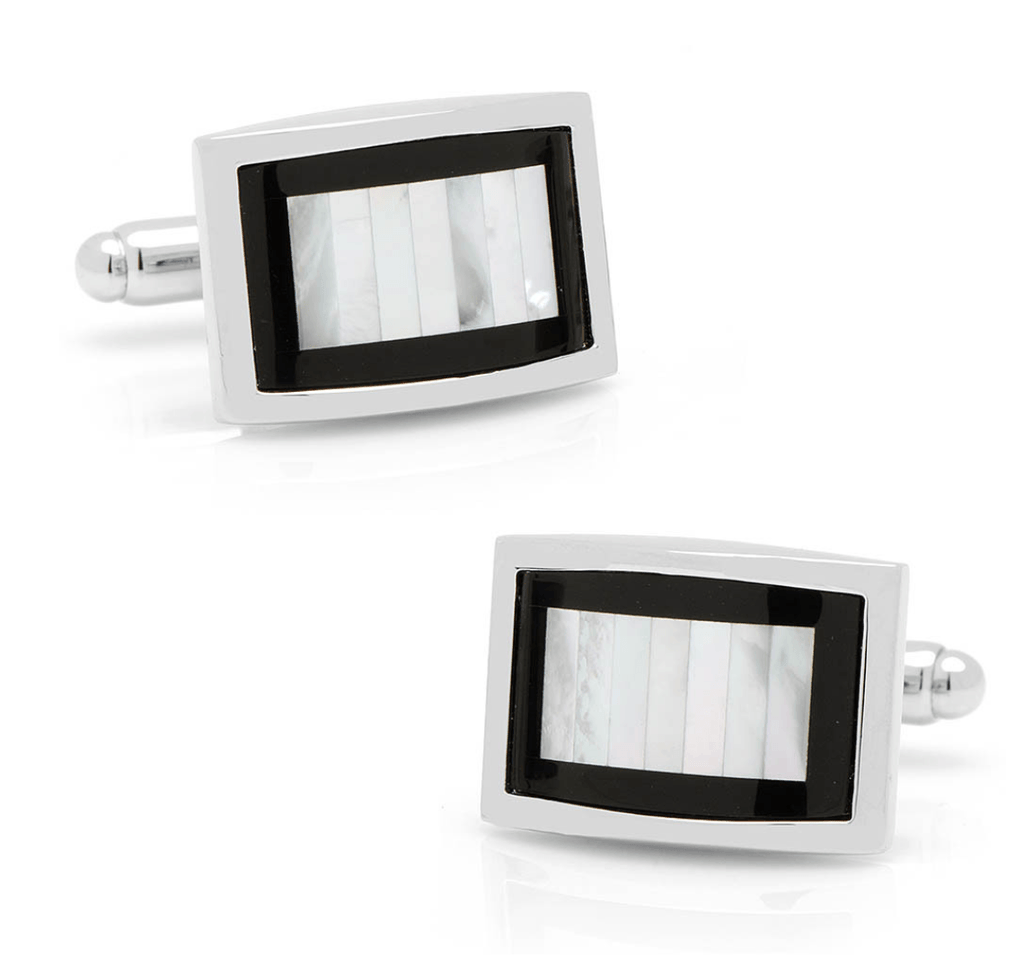 Onyx and Mother of Pearl Key Cufflinks - MarkandMetal.com