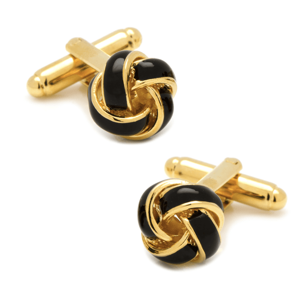 Black and Gold Knot Cufflinks - MarkandMetal.com