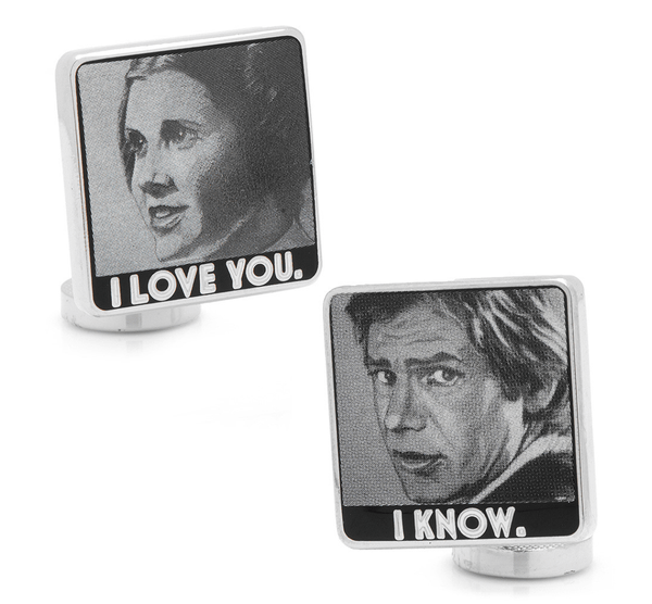 I Love You I Know Cufflinks BY STAR WARS - MarkandMetal.com