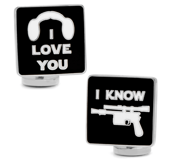 I Love You I Know Icon Cufflinks BY STAR WARS - MarkandMetal.com