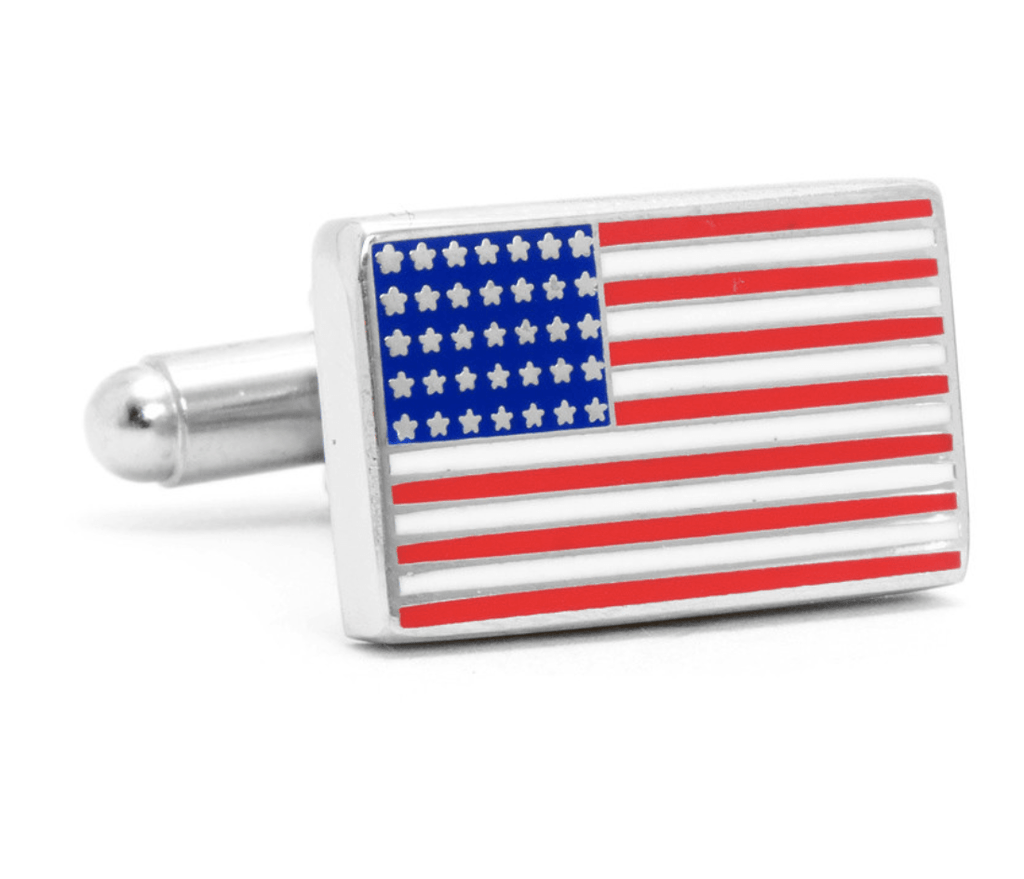 American Flag Cufflinks - Groomsmen Groom Wedding Gift For Him