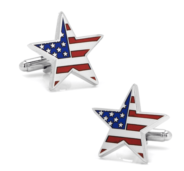 American Flag Star Cufflinks - Men's Accessories and gifts for him