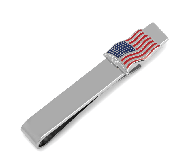 American Flag Tie Bar - Groomsmen Groom Wedding Gift For Him