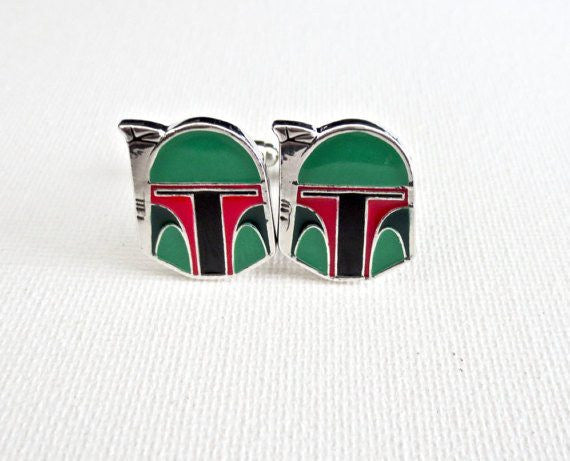 Boba Fett Star Wars Cufflinks - Groomsmen Groom Wedding Gift For Him