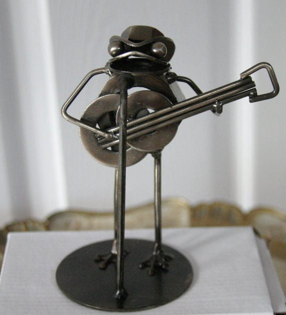 Frog Metal Sculpture - Groomsmen Groom Wedding Gift For Him