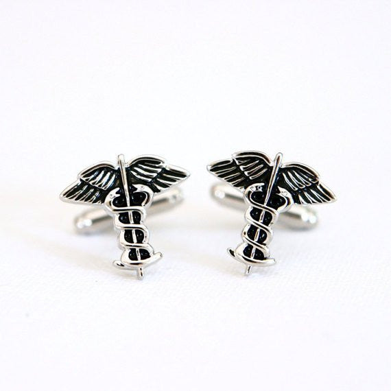 Doctor Nurse RN Cufflinks - MarkandMetal.com