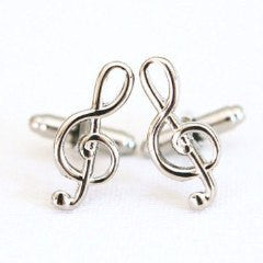 Music Notes Treble Clef Musician Cufflinks - MarkandMetal.com