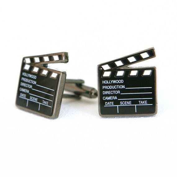 Movie Clappers Cufflinks - MarkandMetal.com