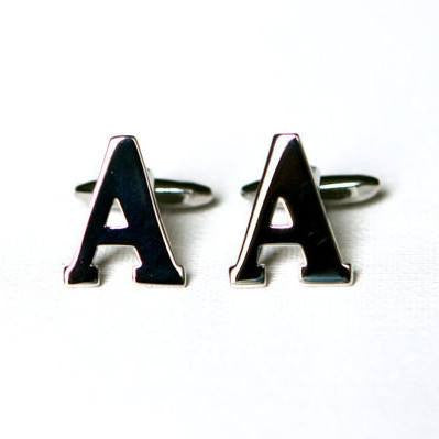 Alphabet Letters Cufflinks - Men's Accessories and gifts for him