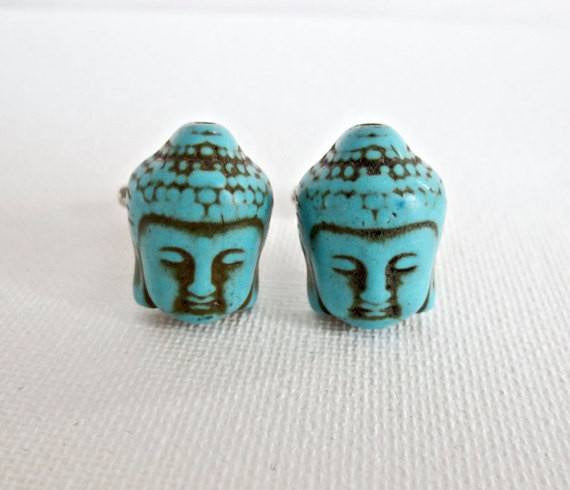 Buddha Zen Spiritual Cufflinks - Groomsmen Groom Wedding Gift For Him