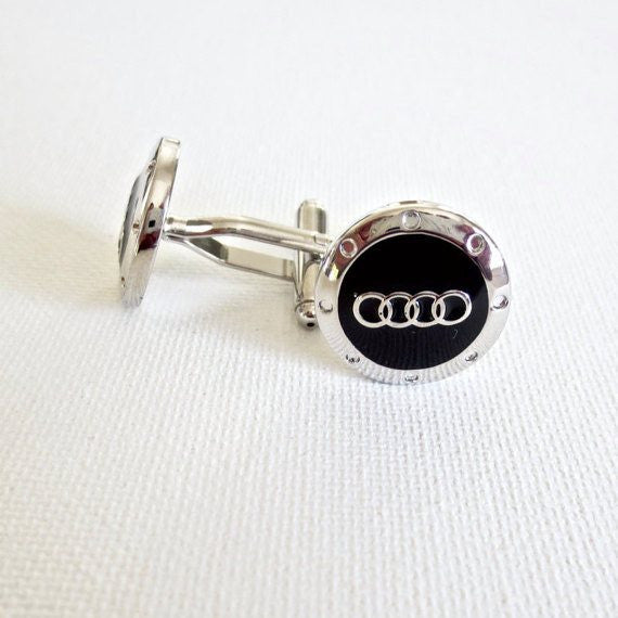 Audi Cufflinks Car Logo - Groomsmen Groom Wedding Gift For Him
