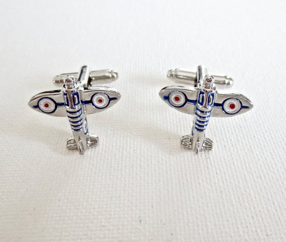 Airplane Military Cufflinks - Groomsmen Groom Wedding Gift For Him