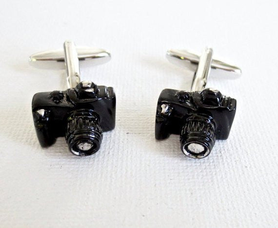 Camera Photographer Cufflinks - MarkandMetal.com