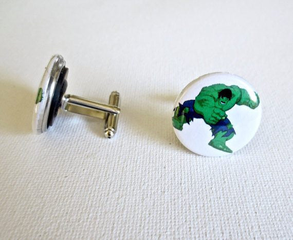 Incredible Hulk Cufflinks - MarkandMetal.com
