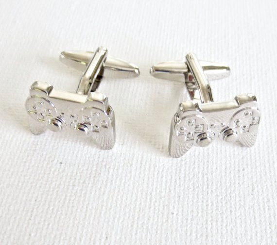 Video Game Controllers Cufflinks - MarkandMetal.com