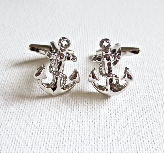 Nautical Anchor Cufflinks - MarkandMetal.com