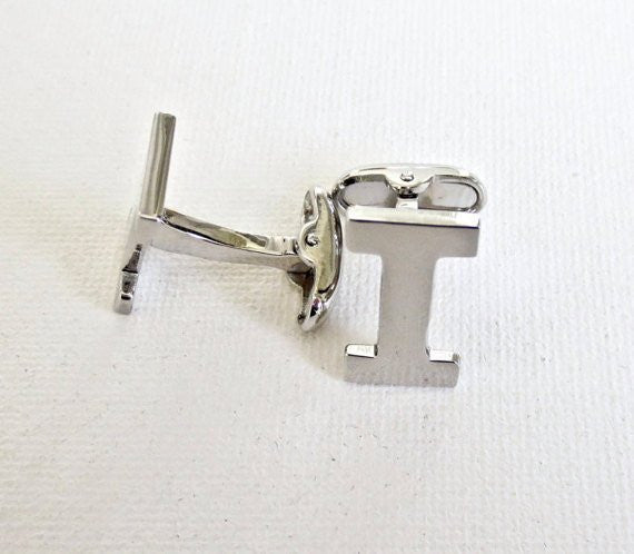 Alphabet Letters Cufflinks - Groomsmen Groom Wedding Gift For Him