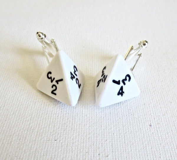 Dungeon and Dragons D4 Dice Cufflinks - Groomsmen Groom Wedding Gift For Him