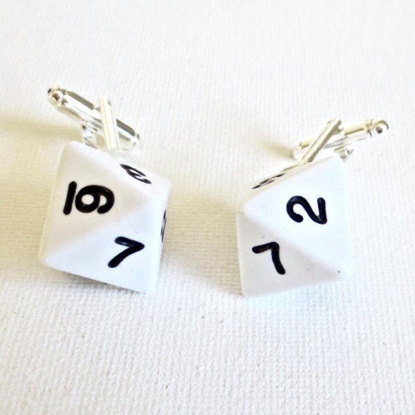 Dungeon and Dragons D8 Dice Cufflinks - MarkandMetal.com