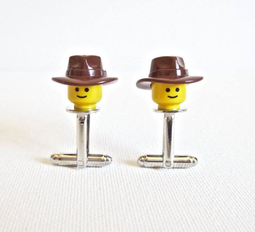 LEGO Indiana Jones Cufflinks - MarkandMetal.com