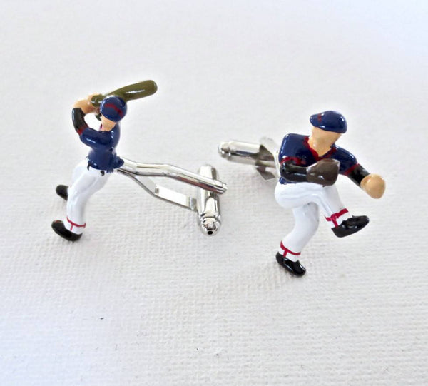 Baseball Players Cufflinks Team Coach Wedding Groom Groomsman Groomsmen Gift - MarkandMetal.com