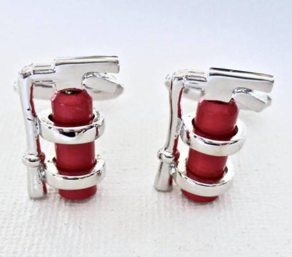 Fire Extinguishers Cufflinks - MarkandMetal.com