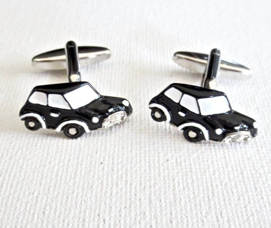 Mini Cooper Cufflinks Car Logo - MarkandMetal.com