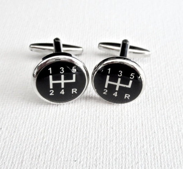 Manual Car Gears Cufflinks - MarkandMetal.com