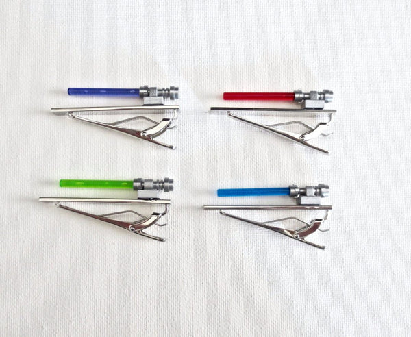 Lightsabers Star Wars Tie Clip *Set of 4* - MarkandMetal.com