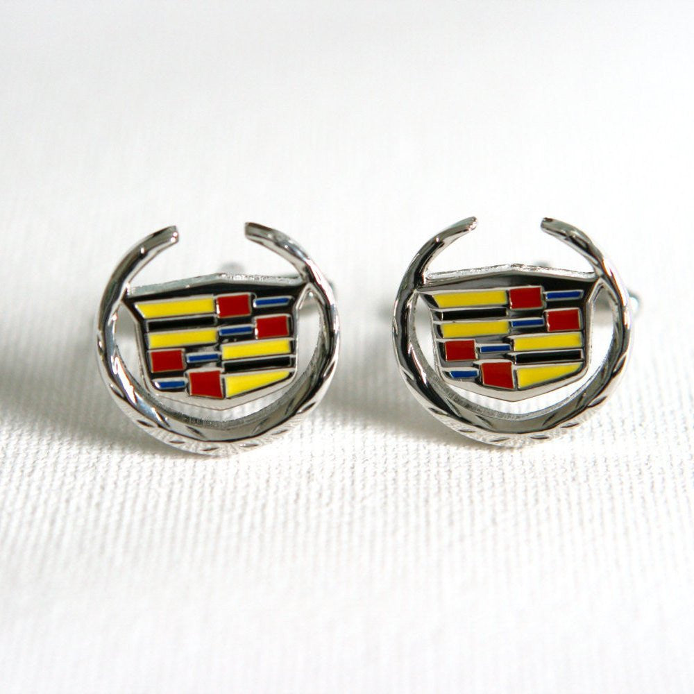 Cadillac Cufflinks Car Logo - Groomsmen Groom Wedding Gift For Him