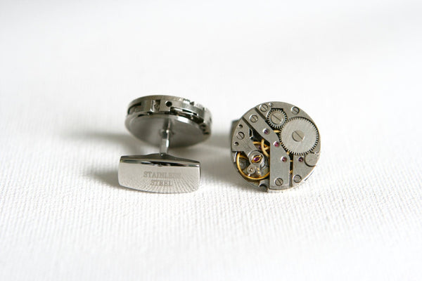 Steampunk Watch Cufflinks - MarkandMetal.com