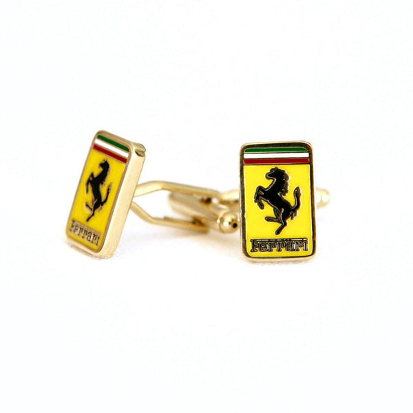 Ferrari Cufflinks Car Logo - Groomsmen Groom Wedding Gift For Him