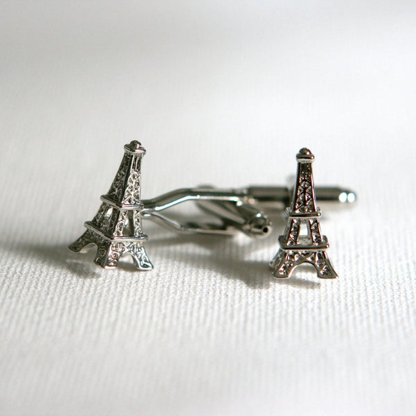 Eiffel Tower Paris Cufflinks - Groomsmen Groom Wedding Gift For Him