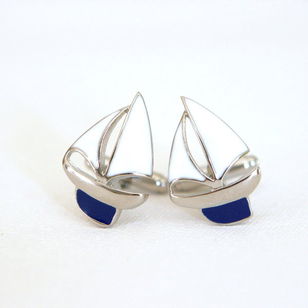 Sailboats Cufflinks - MarkandMetal.com