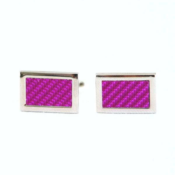 Carbon Fiber Cufflinks - Groomsmen Groom Wedding Gift For Him